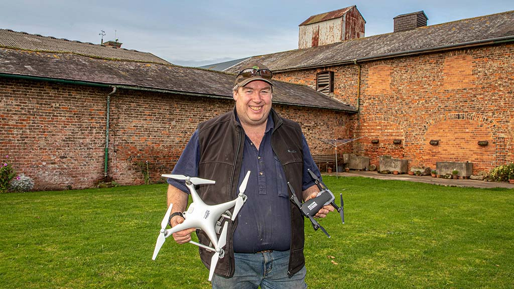 Drones play an integral part of all spray-based applications for Graham Potter.