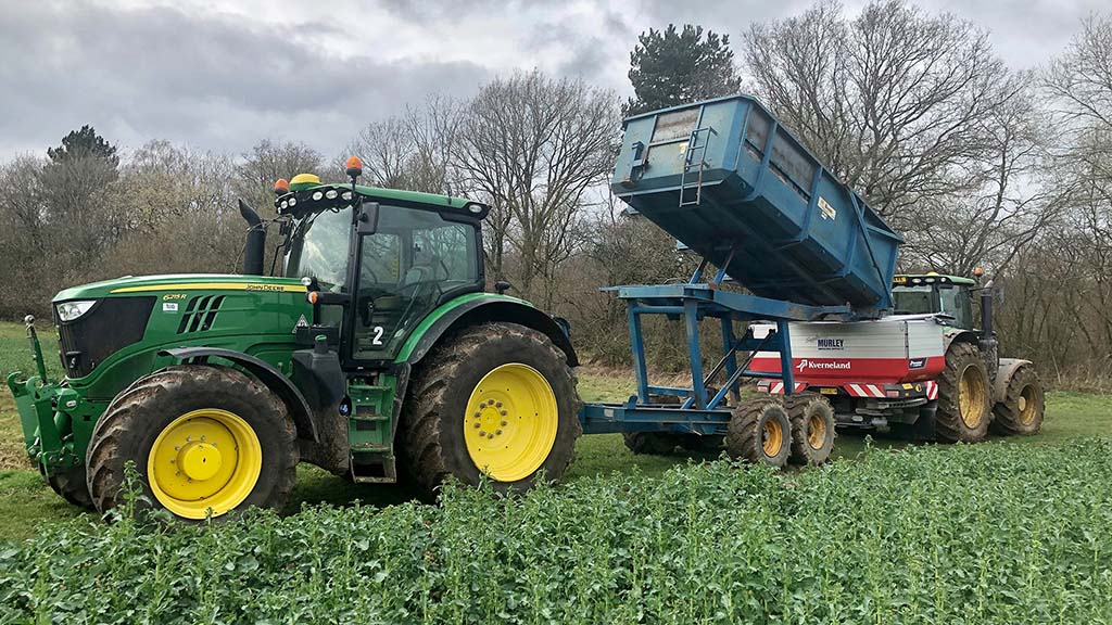 Fertiliser applications are carefully targeted using variable rate applications to suit crop and soil types.