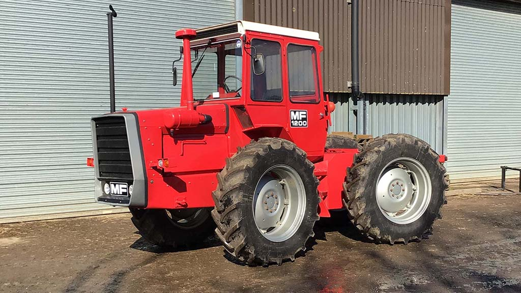 This 1974 Massey Ferguson 1200 was described as being in concours condition.