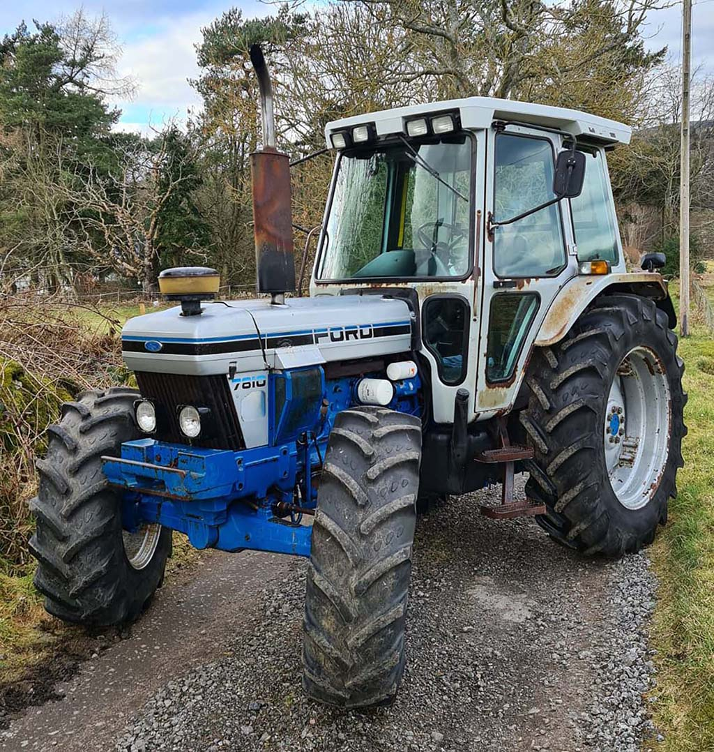 Second highest price paid was for this 1989 Ford 7810 Silver Jubilee model.