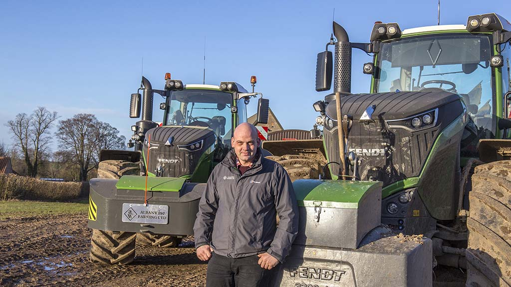 Albanwise arable manager Michael Balls sees on-the-move-tyre pressure adjustment as a game-changer with high-horsepower tractors.