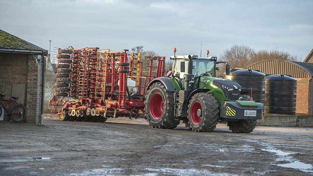 Two Fendt 1050 tractors have replaced crawlers, helping to improve operational versatility and contribute to compaction management at Barton Bendish.