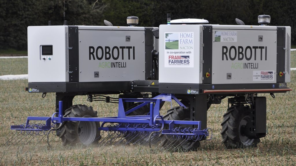 First Agrointelli Robbotti autonomous robotic tractor gets to work in the UK