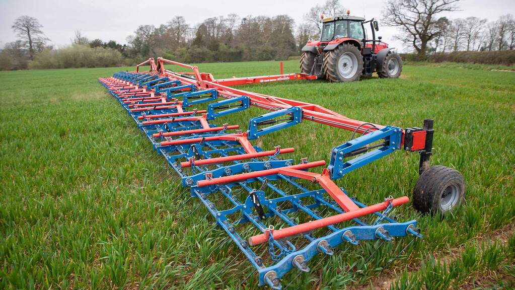 How a 24 metre wide tine harrow is helping one Staffordshire farm to implement a hybrid farming system