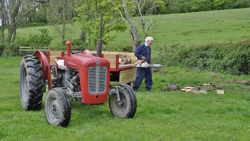 Purchased 20 years ago, this MF35X was restored by Mr Ken Rees (pictured). The tractor is towing a MF trailer purchased by Mr Rees in 1964 which has also been restored.
