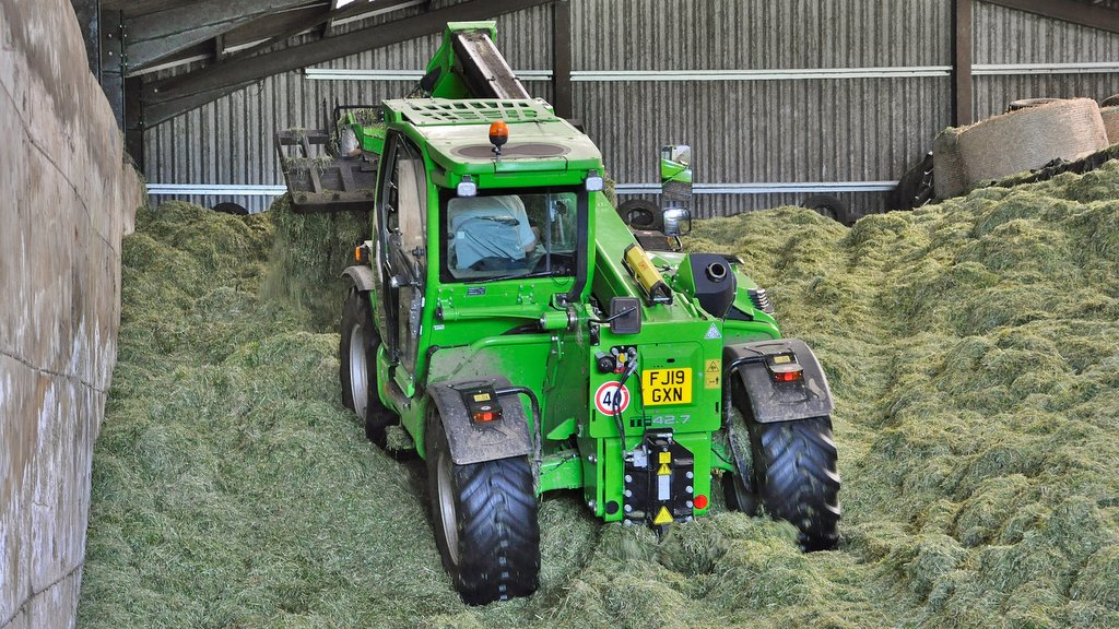 The Rees family uses two Merlo handlers for materials handling. The Merlo handlers are described as the busiest machines on the farm which milks 160-cows and runs 200 mule breeding sheep.