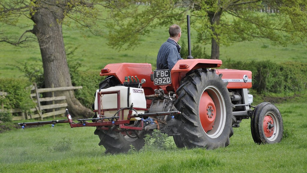 This 1966 MF135 with an ATV sprayer mounted on the back, for spot-spraying docks and thistles in the pastures. According to Andrew Rees' father, Mr Ken Rees, every farm should have one.