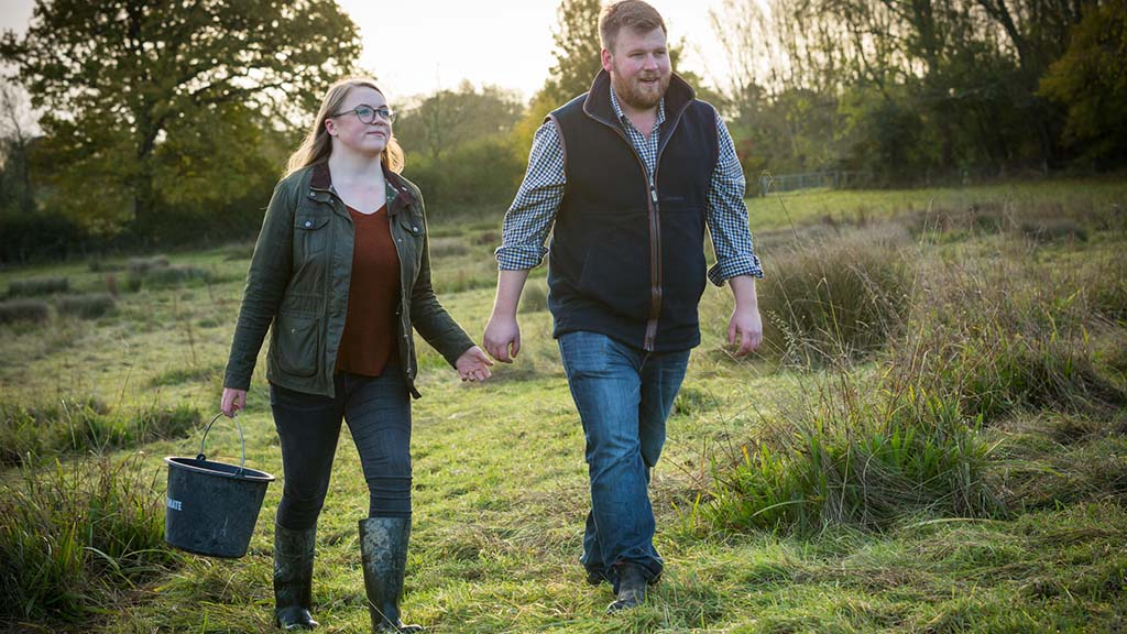In your field: James and Isobel Wright - 'With me on the telehandler, Isobel took charge of the tractor and trailer'