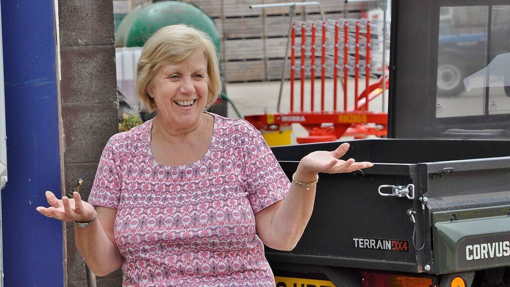 Mr Catley's ability to manage his company successfully is dependant on the efforts of parts manager Derek Bailey and his mother Debbie (pictured) who handles the company accounts.