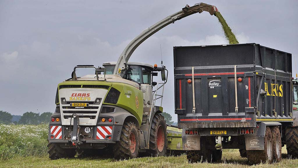 Banks's Agricultural Contractors in Shropshire run two Type-502 Claas Jaguar 970 forage harvesters equipped with the new MAN straight-six engine rated at 790hp.