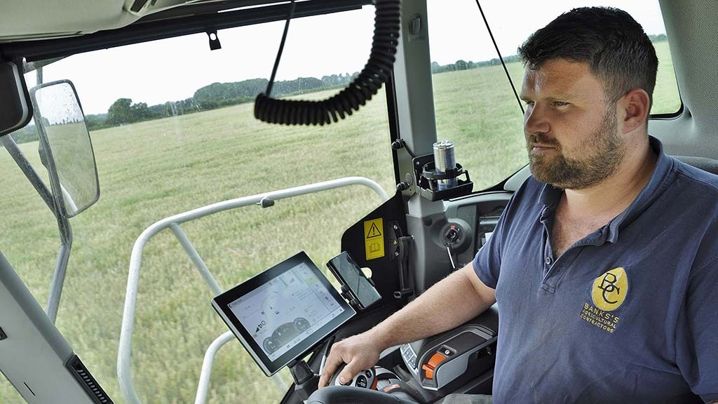 """""""The six-cylinder engine gives you more confidence in the machines ability. The flexibility of the engine combined with its flat torque curve, takes away the worry of blocking the harvester,"""" says Steve Banks."""